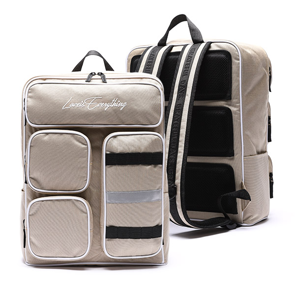 MINIMAL 4POCKET BACKPACK - BEIGE